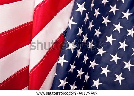 waving american flag background. Waving flag background