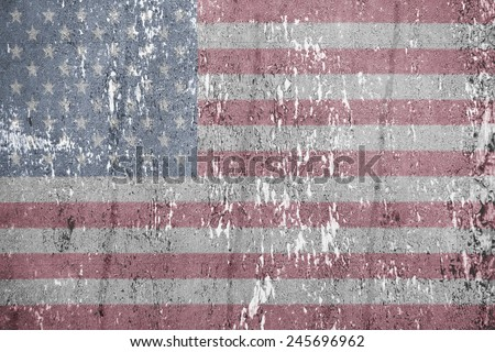 American vintage flag. Texture, background