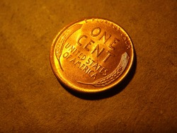 American vintage wheat cent coin
