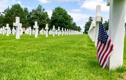 American War Cemetery at Omaha Beach, Normandy (Colleville-sur-Mer).