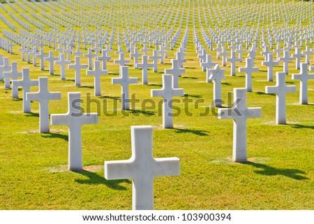 American War Cemetery (World War II), Florence, Tuscany, Italy - stock photo