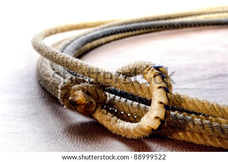 American West Authentic Rodeo Cowboy Lariat Lasso Hondo Or Honda Noose With End Loop Rawhide Speed Burner Detail Stock Photo 88999522 Shutterstock