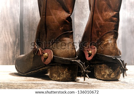 Rodeo boots with spurs american west rodeo cowboy