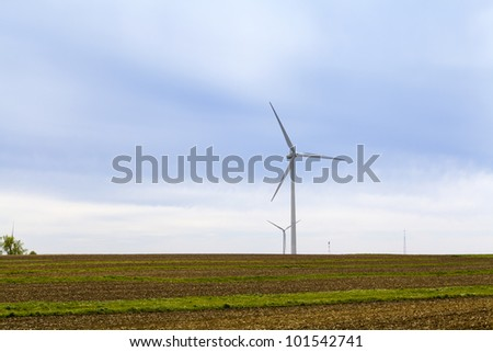 American Wind Farm - stock photo