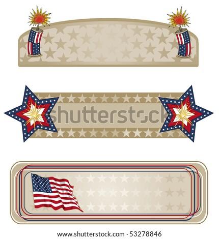 Americana Banners More - RASTER version