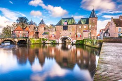 Amersfoort, Netherlands at the historic Koppelport at dawn.