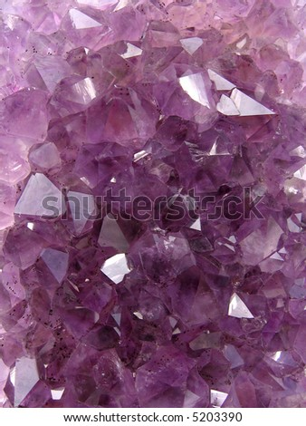 Amethyst carpet - stock photo