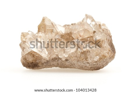 Amethyst cluster isolated on a white background