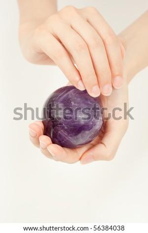 amethyst dome - stock photo