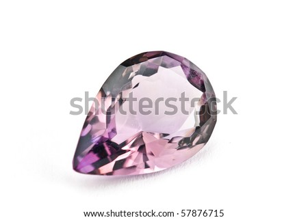 Amethyst Jewel isolated against a white background