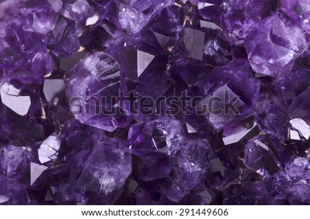 Amethyst mineral close up