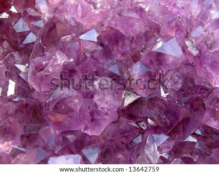 Amethyst natural structure
