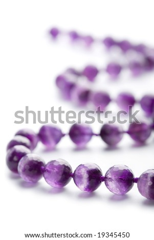 amethyst necklace isolated