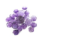 Amethyst stones,Carve of handmade jewelry,beautiful purple rose
