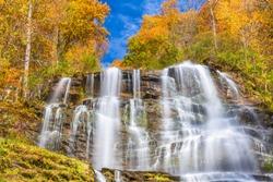 Amicalola Falls, Georgia, USA in autumn season.