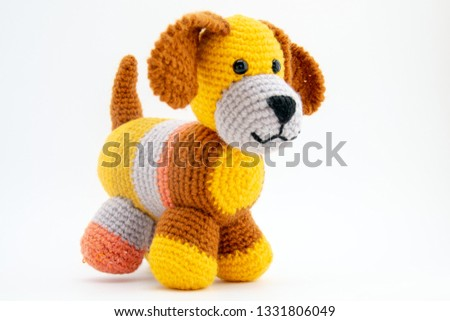 Amigurumi handmade toys are soft and cuddly.
