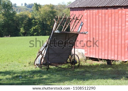 Amish farming equipment #1108512290