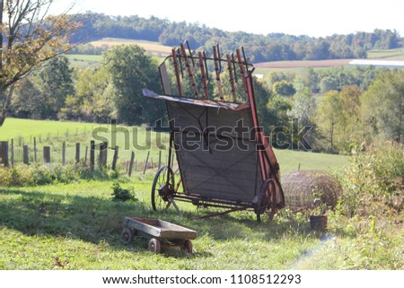 Amish farming equipment #1108512293
