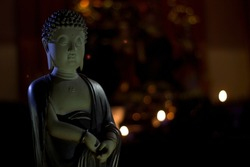 Amitabha Buddha. Statue of Buddha. Artistic Buddha statue. Buddhism