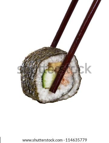 Amki Roll with chopsticks - stock photo
