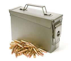 Ammo box isolated on white background