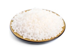 Ammonium nitrate is a chemical compound, the nitrate salt of the ammonium cation. Isolated.
