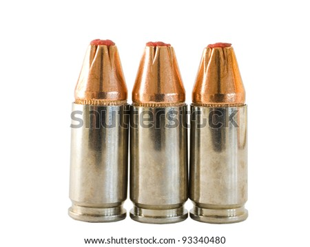 Ammunition for handguns or pistols that are chambered in 9 mm