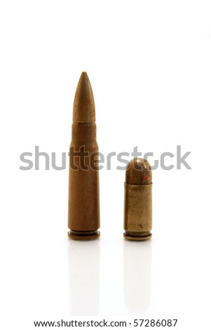ammunition isolated on white - stock photo