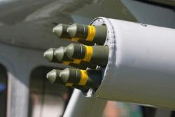 Ammunition pod of a vintage military plane in Drachten (Netherlands)