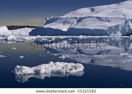 Among the Greenland icebergs