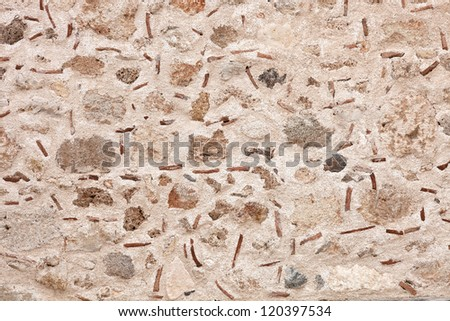 Among the natural stones are clay tiles added.