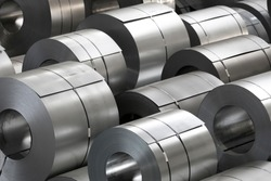 amount of steel coils in warehouse, heavy industries