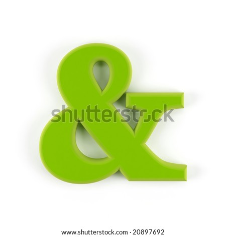Ampersand symbol isolated on a white background.