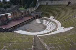 Amphitheater at ancient Pompeii ruins