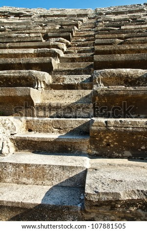 amphitheater close up stairs