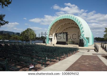 Amphitheater in Downtown Orlando at Lake Eola Park - stock photo