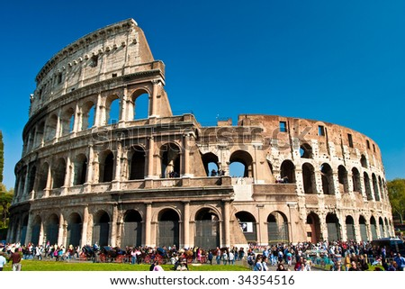 Amphitheatre Colosseum in the city of Rome
