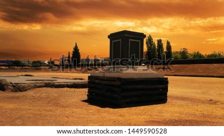 Amphitheatre in Merida (Augusta Emerita). Roman City - Temples, Theatres, Monuments, Sculptures and Arenas -  Estremadura, Spain #1449590528