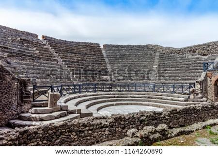 Amphitheatre in Pompeii, Italy. #1164260890