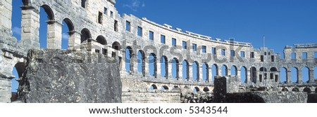 Amphitheatre, Pula, Croatia - stock photo