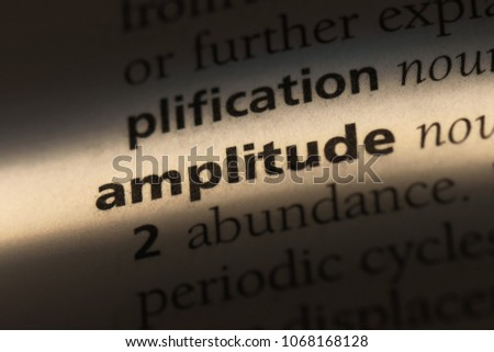 amplitude word in a dictionary. amplitude concept.