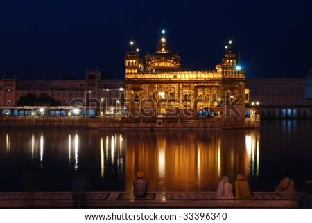 golden temple amritsar at night. golden temple amritsar at