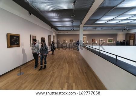 Amsterdam - December 26: People Visiting Van Gog Museum Symbolism Hall On December 26, 2010 In Amsterdam , Netherlands