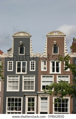 Amsterdam, Holland, the roof of the houses, vertical version