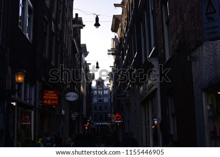 Amsterdam, Netherlands – May 10, 2018: Amsterdam Cityscape, Amsterdam, Netherlands, Europe #1155446905