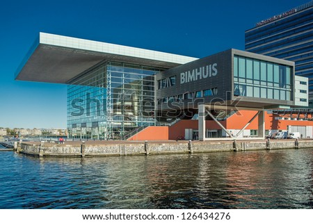 AMSTERDAM - NOVEMBER 27: The Bimhuis concert hall ipn November 27, 2012 is a venue for jazz and improvised music in Amsterdam .
