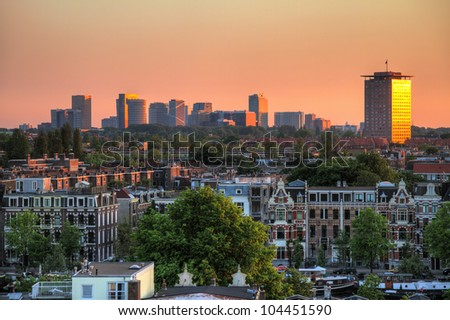 Amsterdam south sunset HDR