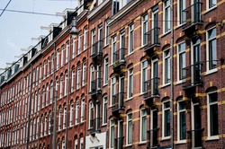 Amsterdam street, city background, peoples, atmosphere, urban, car, home,