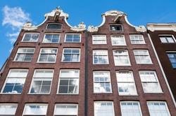 Amsterdam17th century residence building, Netherlands.