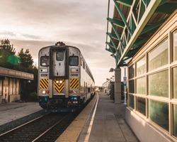 Amtrak arriving station in California